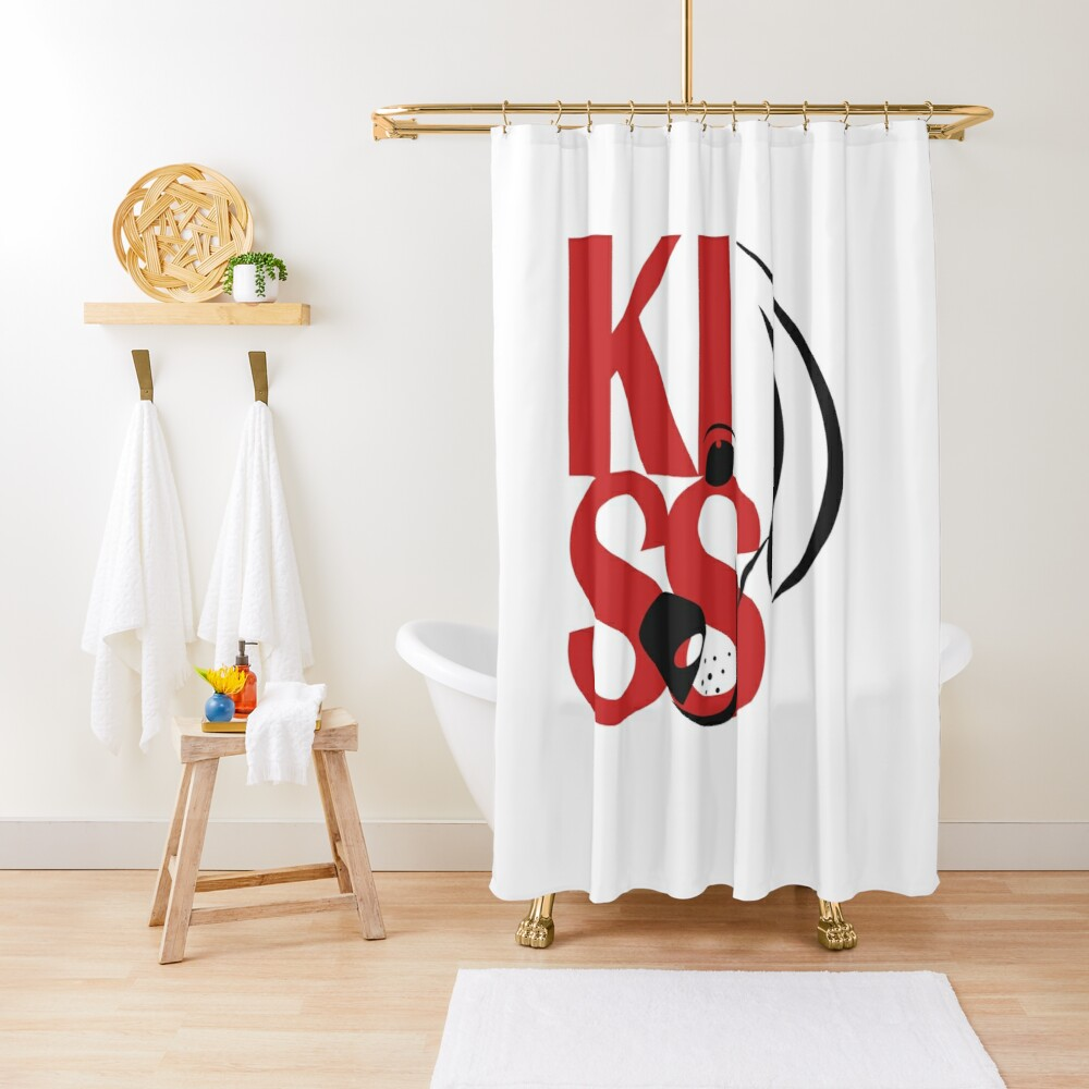 Square Logo Red Shower Curtain