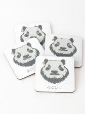 Panda Bear(d) Coasters