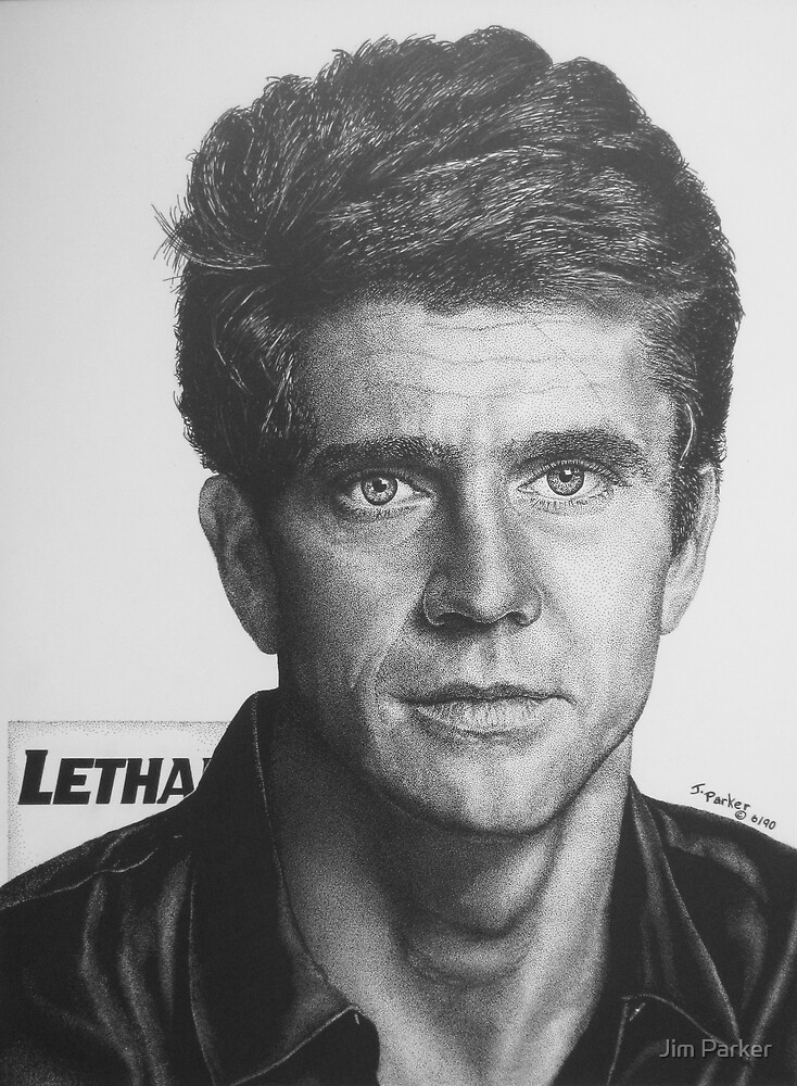 Mel Gibson Pen & Ink Study by Jim Parker