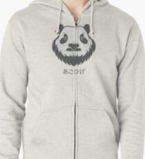 Panda Bear(d) Zipped Hoodie