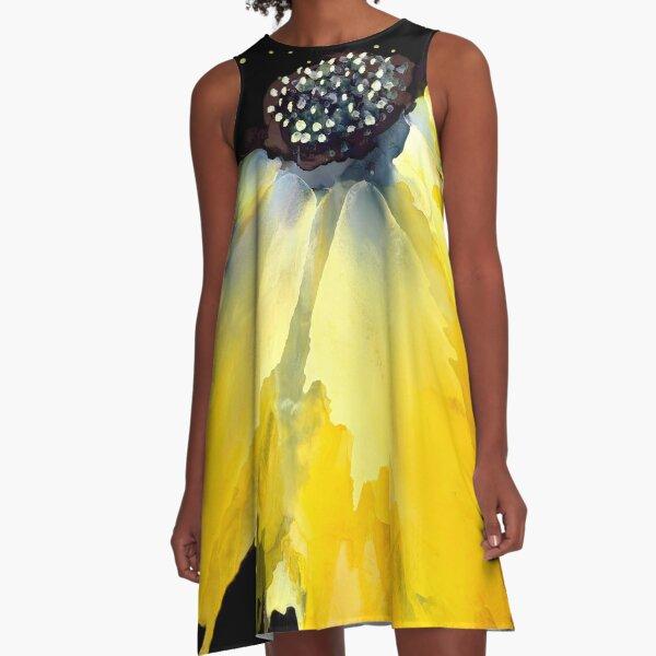 Mellow Yellow  A-Line Dress