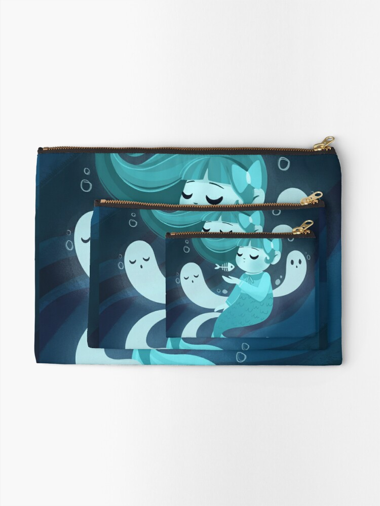 Alternate view of Ghost Mermaid Zipper Pouch