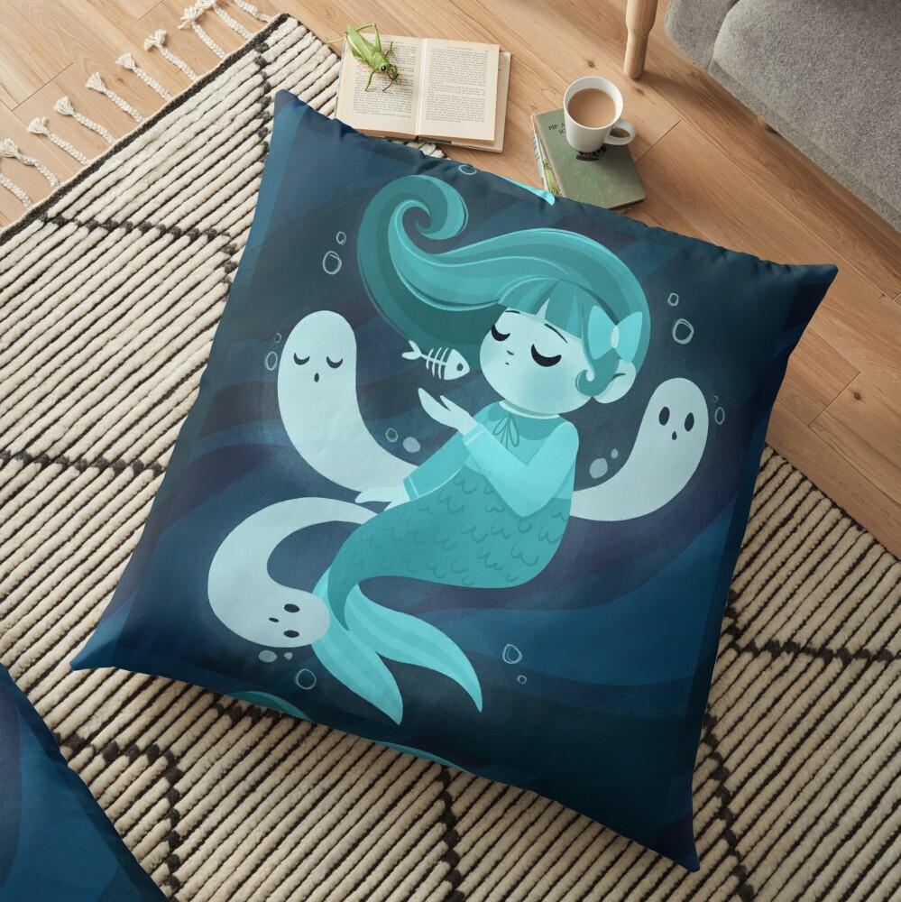 Ghost Mermaid Floor Pillow