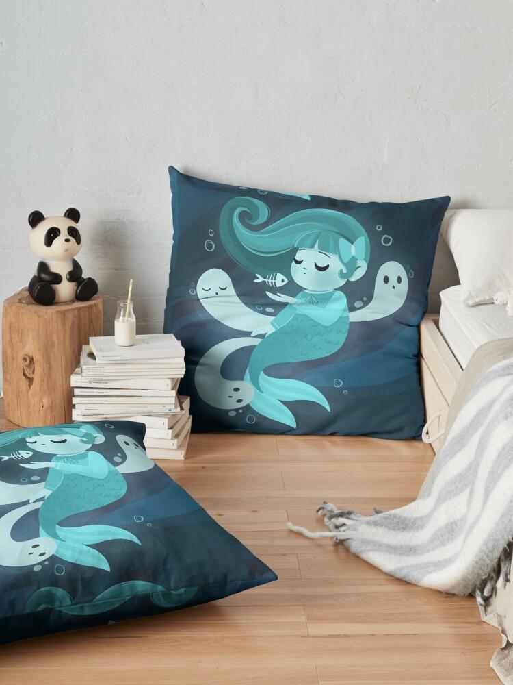 Alternate view of Ghost Mermaid Floor Pillow