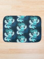 Ghost Mermaid Bath Mat