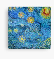 Dot to dot after Vincent van Gough  Canvas Print