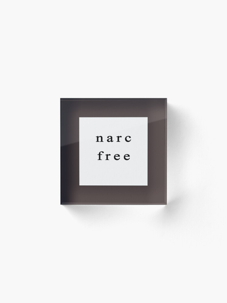 Alternate view of Narc Free Acrylic Block