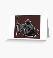 Monkey Wizard Greeting Card