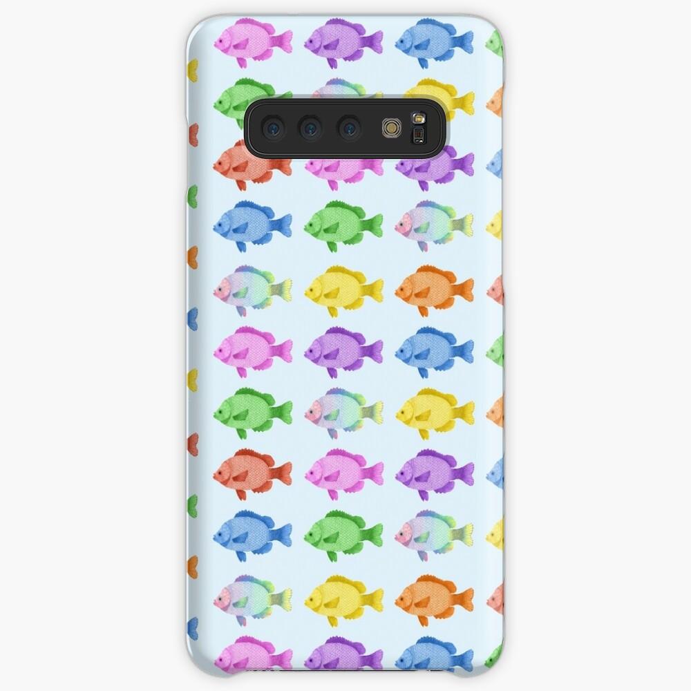Peces multicolores Funda y vinilo para Samsung Galaxy