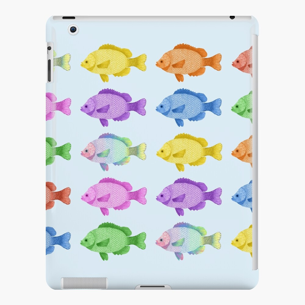 Peces multicolores Funda y vinilo para iPad