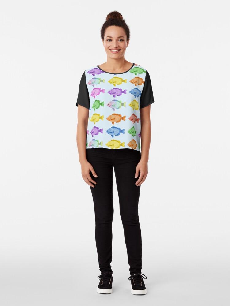 Vista alternativa de Blusa Peces multicolores