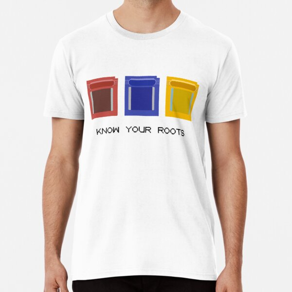 Know Your Roots | Minimalist Pokemon Game Cartridges Premium T-Shirt