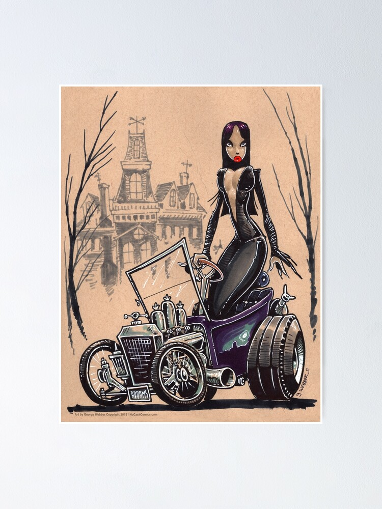 Alternate view of MORTICIA in a T-Bucket Poster