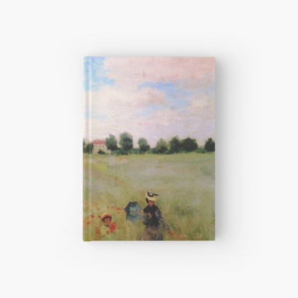 POPPIES - CLAUDE MONET Hardcover Journal