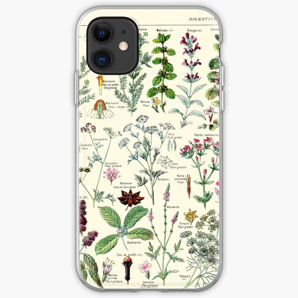 Vintage Digestive Plants Larousse Print Adolphe Millot iPhone Soft Case