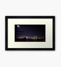 Moon over Dallas Framed Print