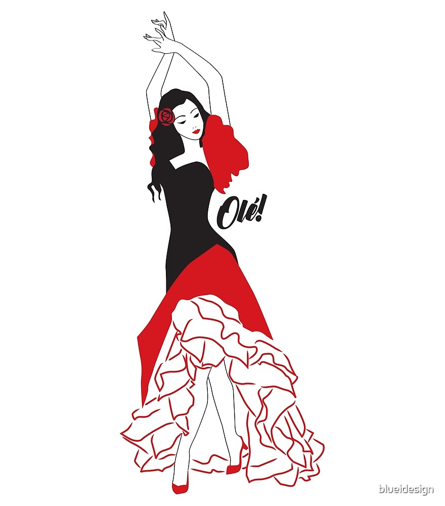 Flamenco Gypsy Dancer Olé by blueidesign