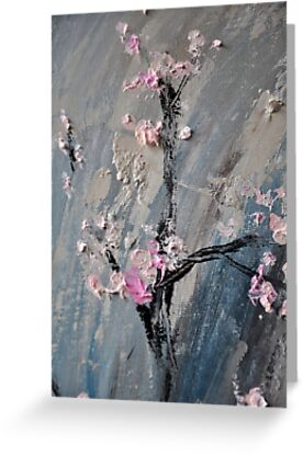 Tree in bloom zoomed part of the Gate by Stella  Shube As