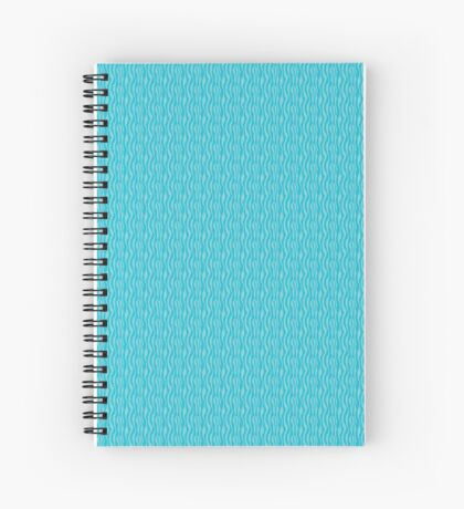 Blue Zebra Print Pattern Spiral Notebook