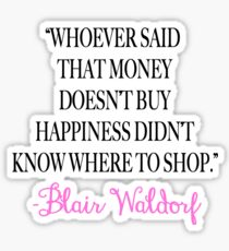 Money Doesn't Buy Happiness Sticker