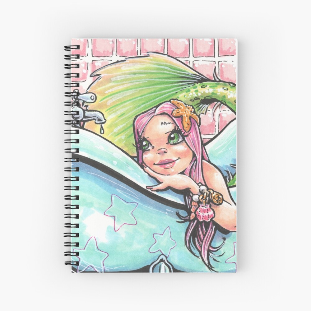 Mermaid in a Tub Spiral Notebook