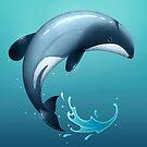 Hector's Dolphin by Tami Wicinas