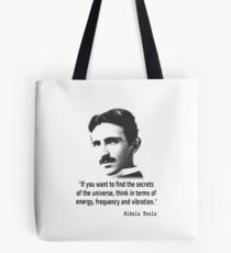 Quote By Nikola Tesla Tote Bag