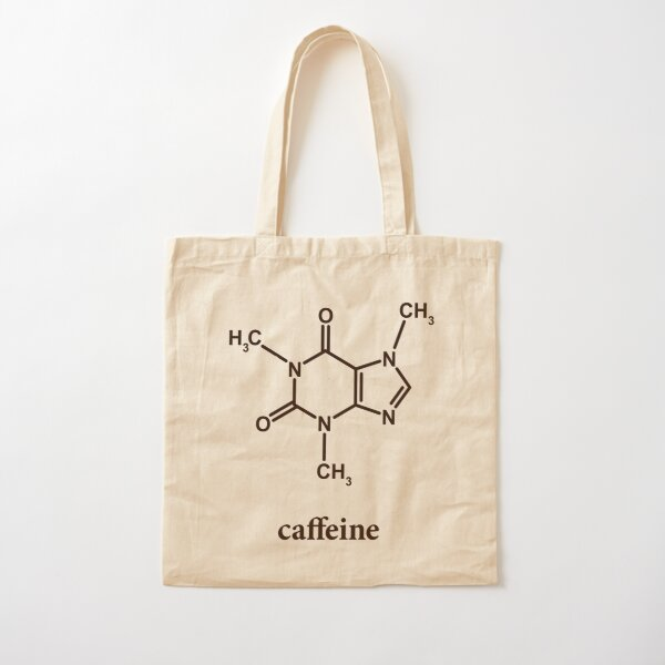 Caffeine Molecule Cotton Tote Bag