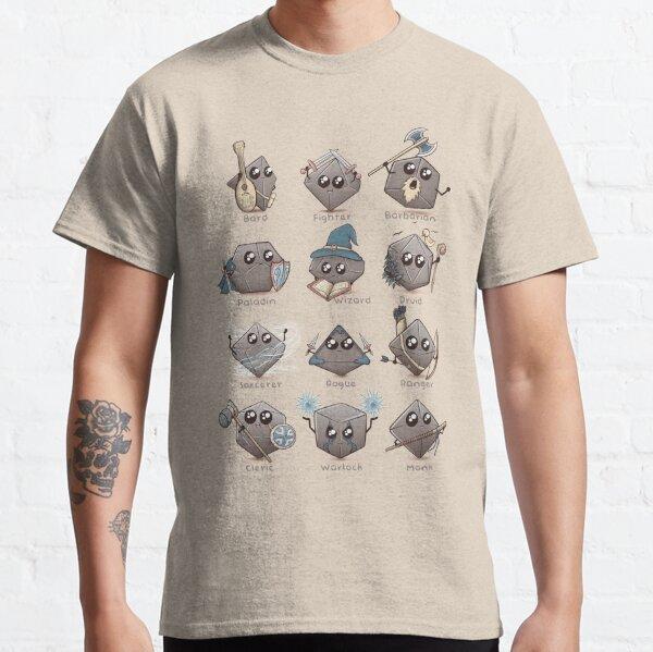 Kawaii DnD Classes - DnD Dungeons & Dragons D&D Classic T-Shirt