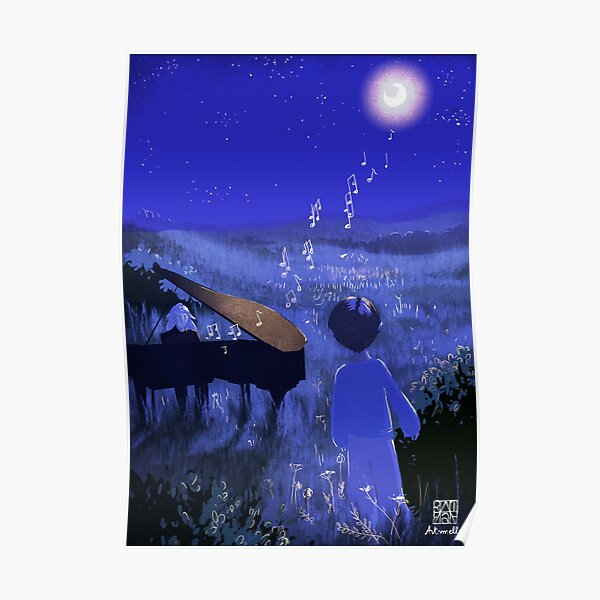 Piano au clair de lune - Piano Moonlight Poster