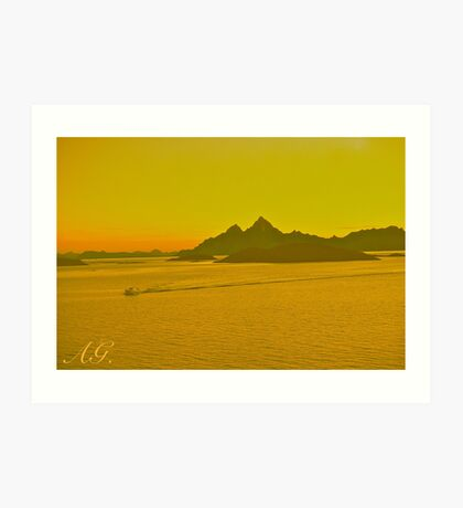 The New Seven Wonders Of The World. Lofoten Islands . Kabelvag - Norway. Doctor Faustus Art Print