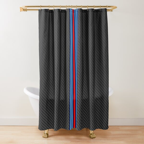 Carbon Fiber Racing Stripes 3 Shower Curtain