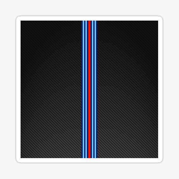 Carbon Fiber Racing Stripes 3 Sticker