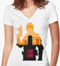 I am the Law Women's Fitted V-Neck T-Shirt