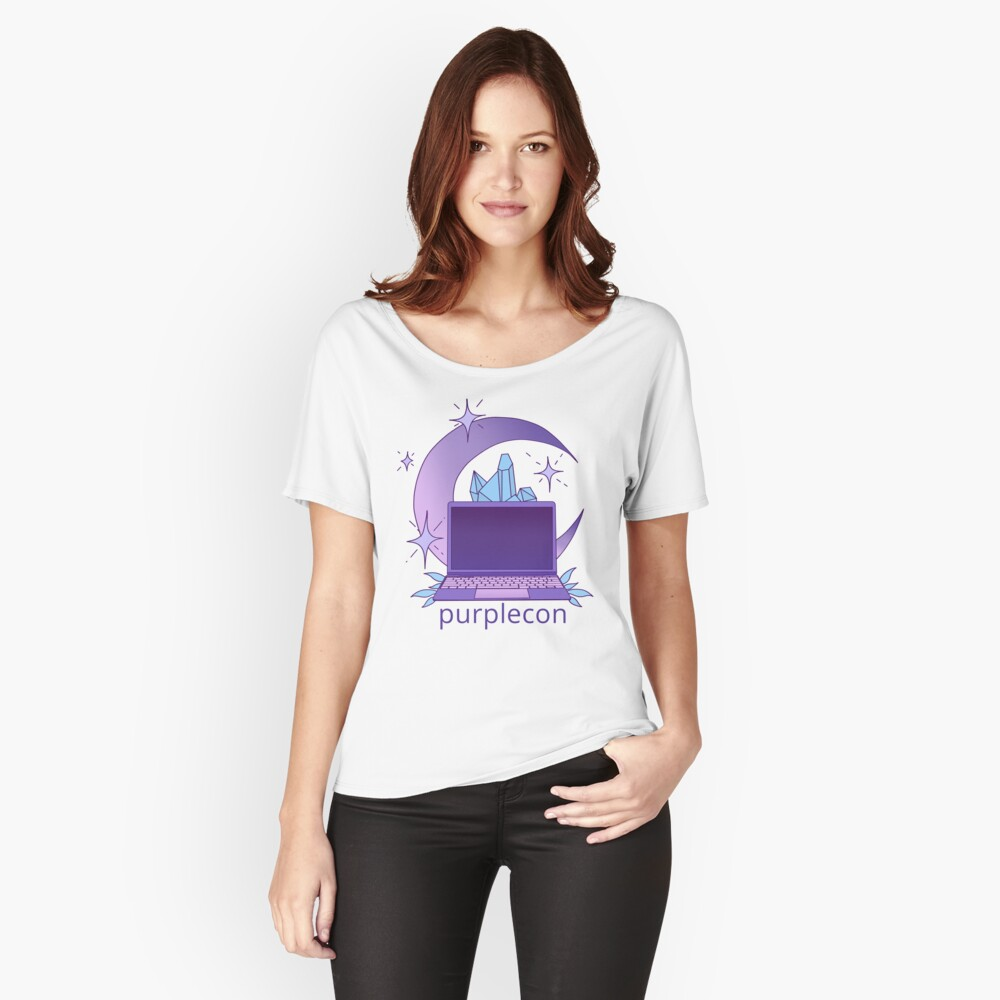 purplecon 2019 shirt a Relaxed Fit T-Shirt