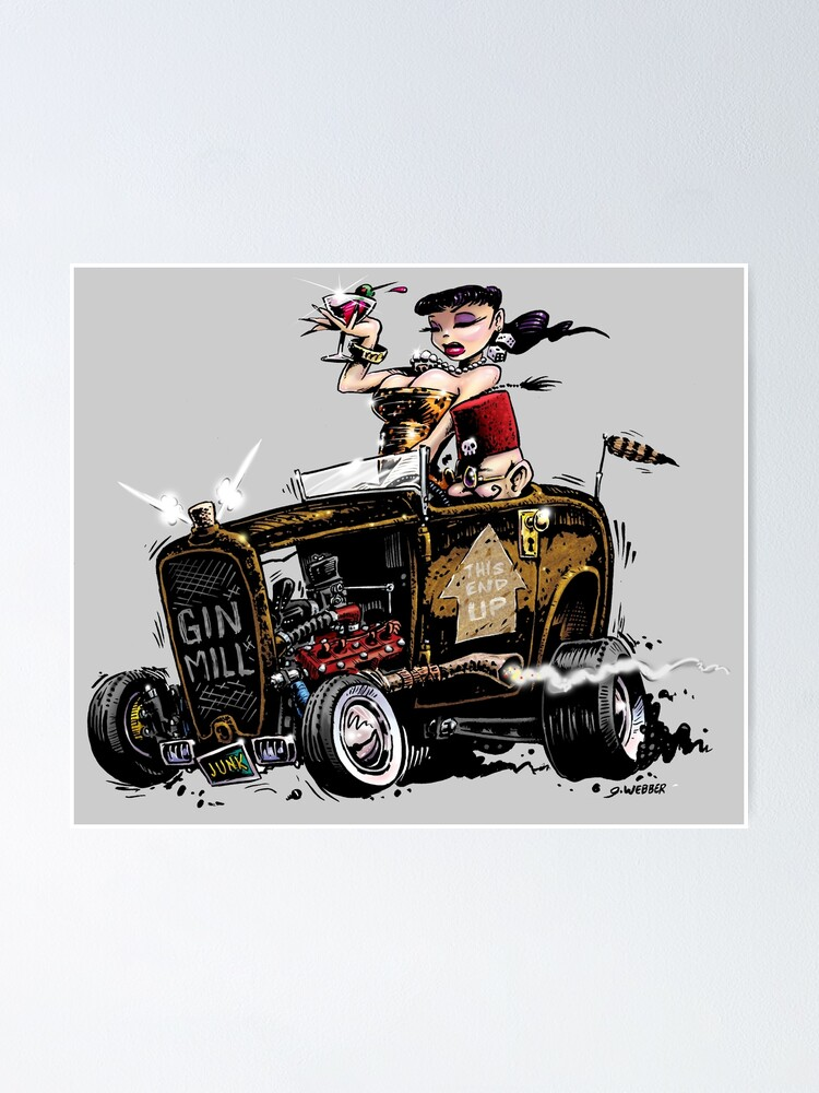 Alternate view of GIN MILL - Hot Rod Poster