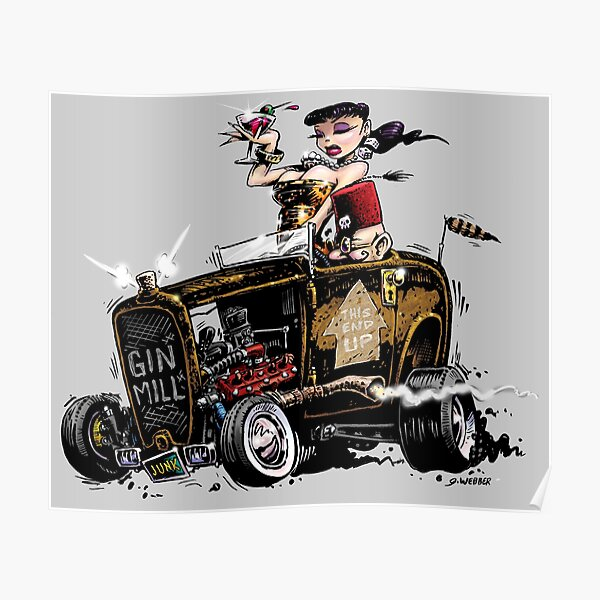 GIN MILL - Hot Rod Poster