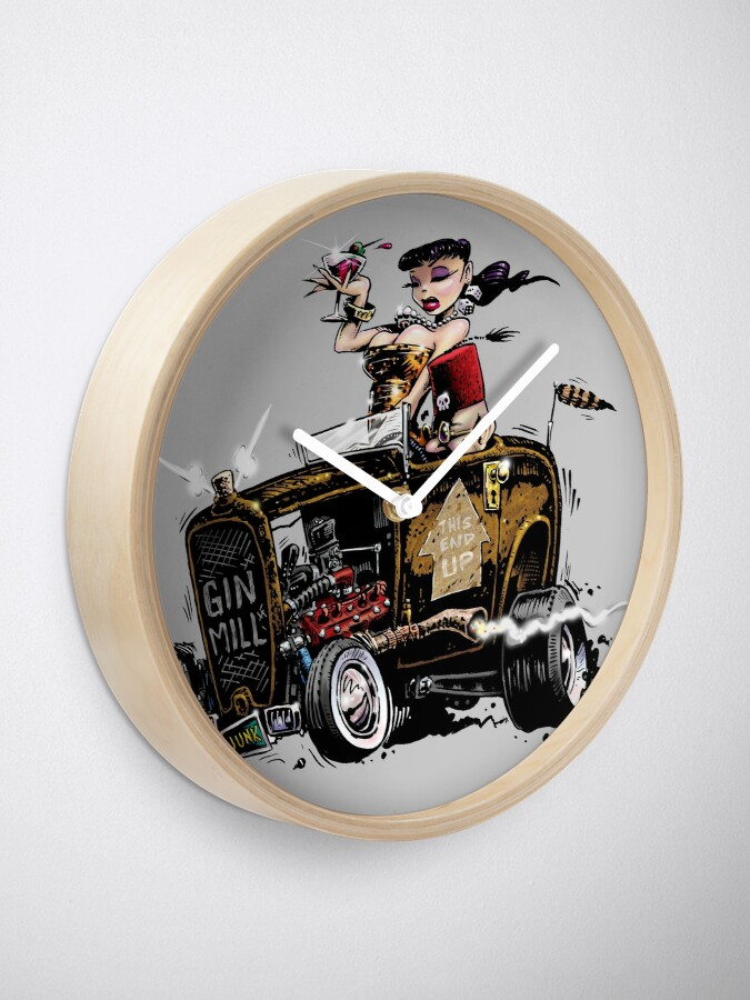 Alternate view of GIN MILL - Hot Rod Clock