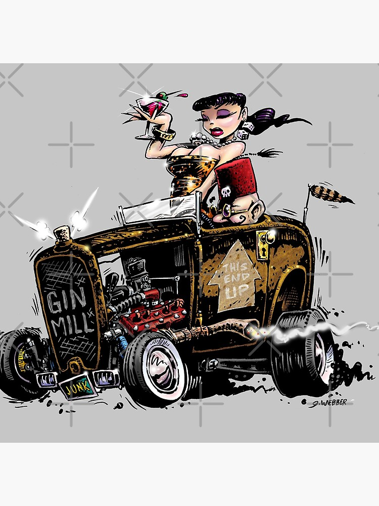 GIN MILL - Hot Rod by gWebberArts