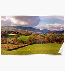 Above Dolgellau North Wales Poster