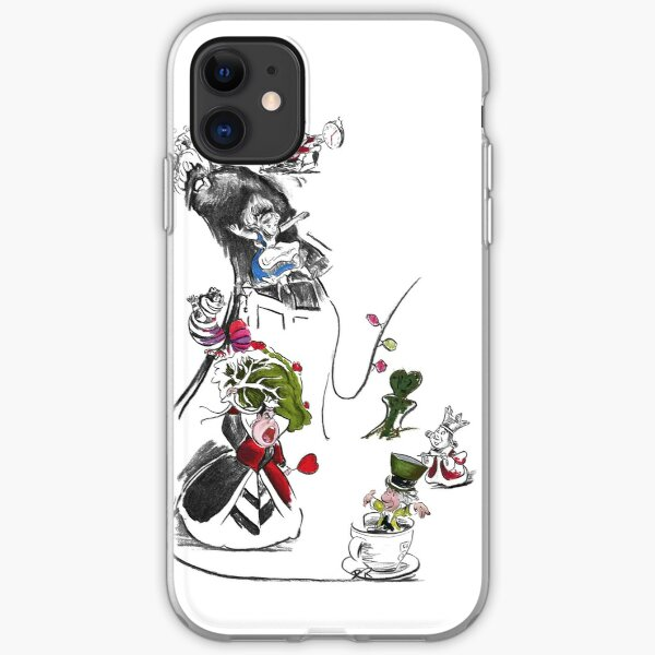 Story Lines - Alice in Wonderland Characters iPhone Soft Case