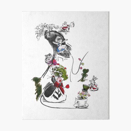 Story Lines - Alice in Wonderland Characters Art Board Print