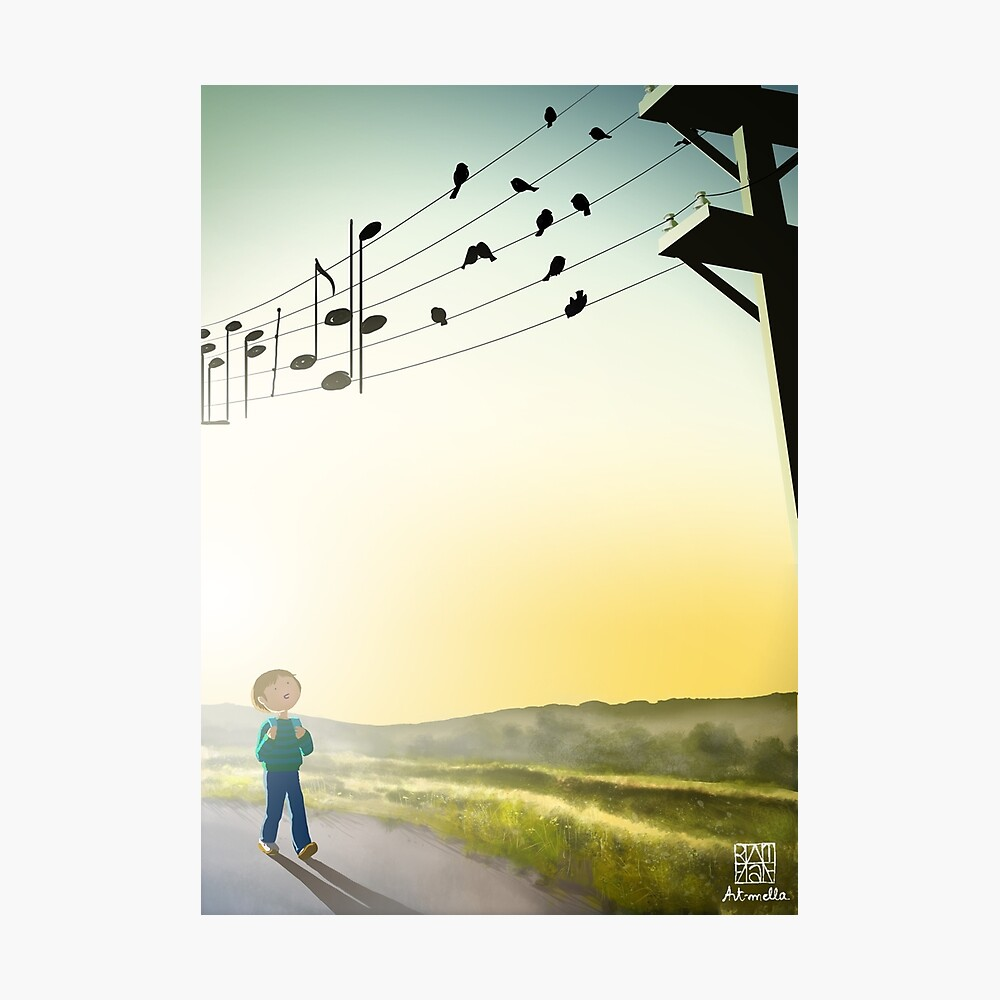Chant d'oiseaux au matin - Early chanting birds Photographic Print