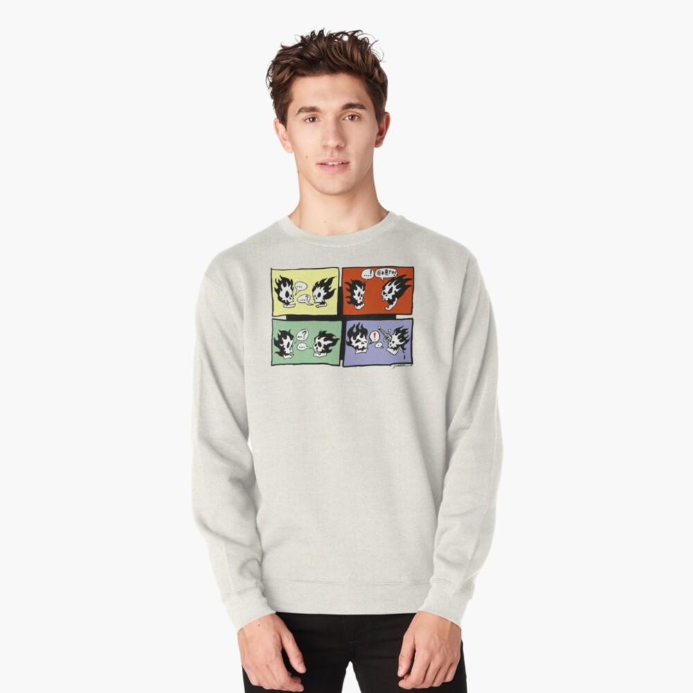 FLAMING SKULLS Pullover Sweatshirt