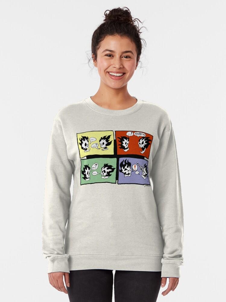 Alternate view of FLAMING SKULLS Pullover Sweatshirt
