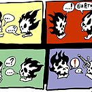 FLAMING SKULLS by George Webber