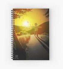 Coucher de soleil inspirant - Inspiring sunset Spiral Notebook