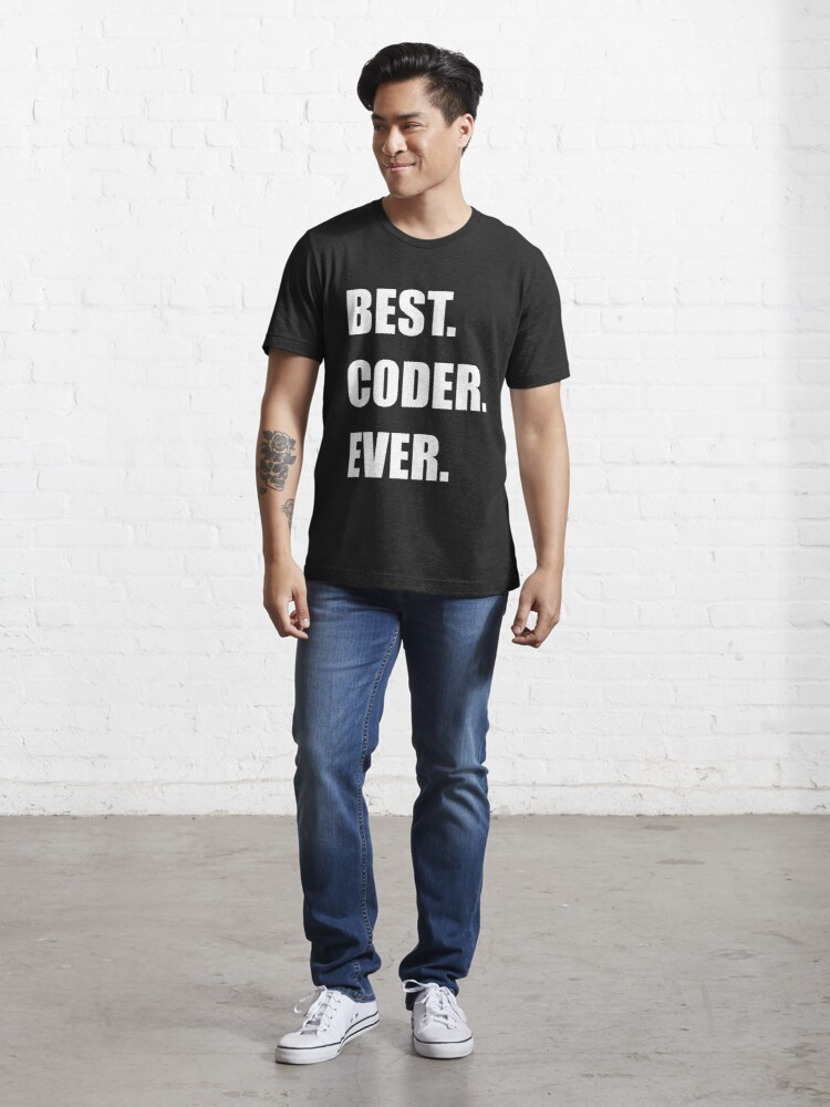 Alternate view of BEST. CODER. EVER. Programmer Humor Essential T-Shirt