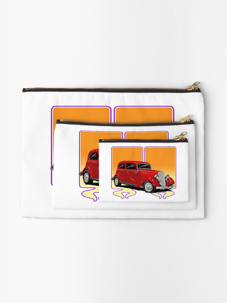 Alternate view of RED HOT ROD Zipper Pouch
