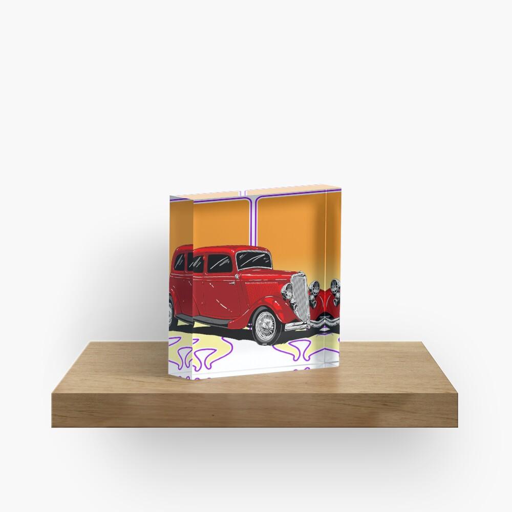 RED HOT ROD Acrylic Block